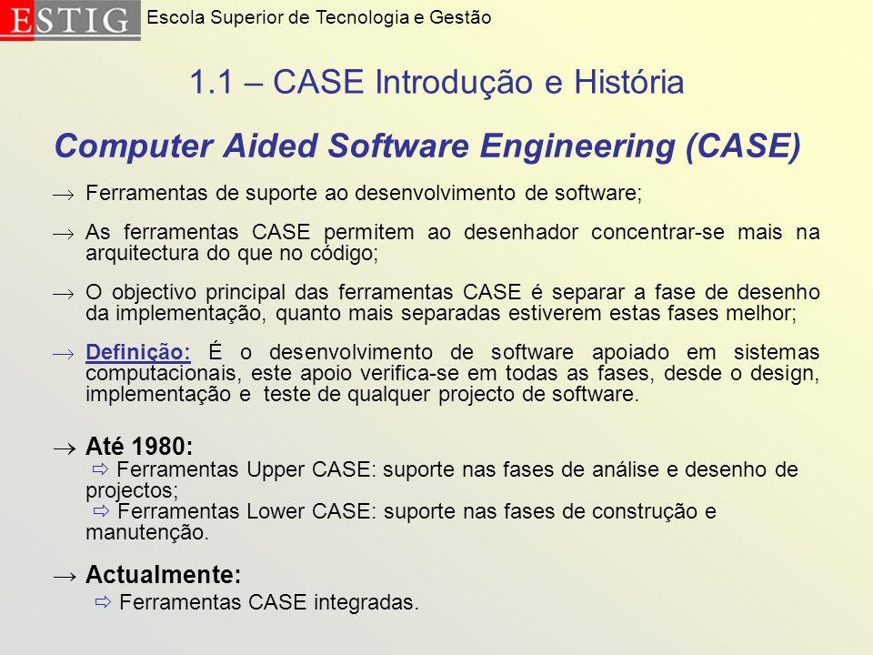 1.1 – CASE Introdução e História