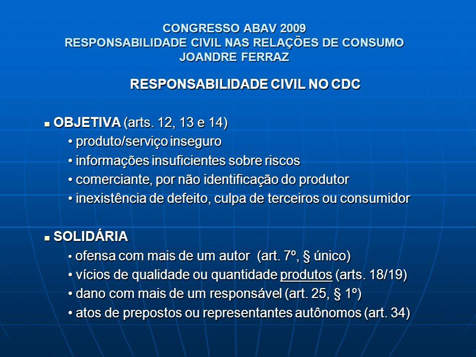RESPONSABILIDADE CIVIL NO CDC