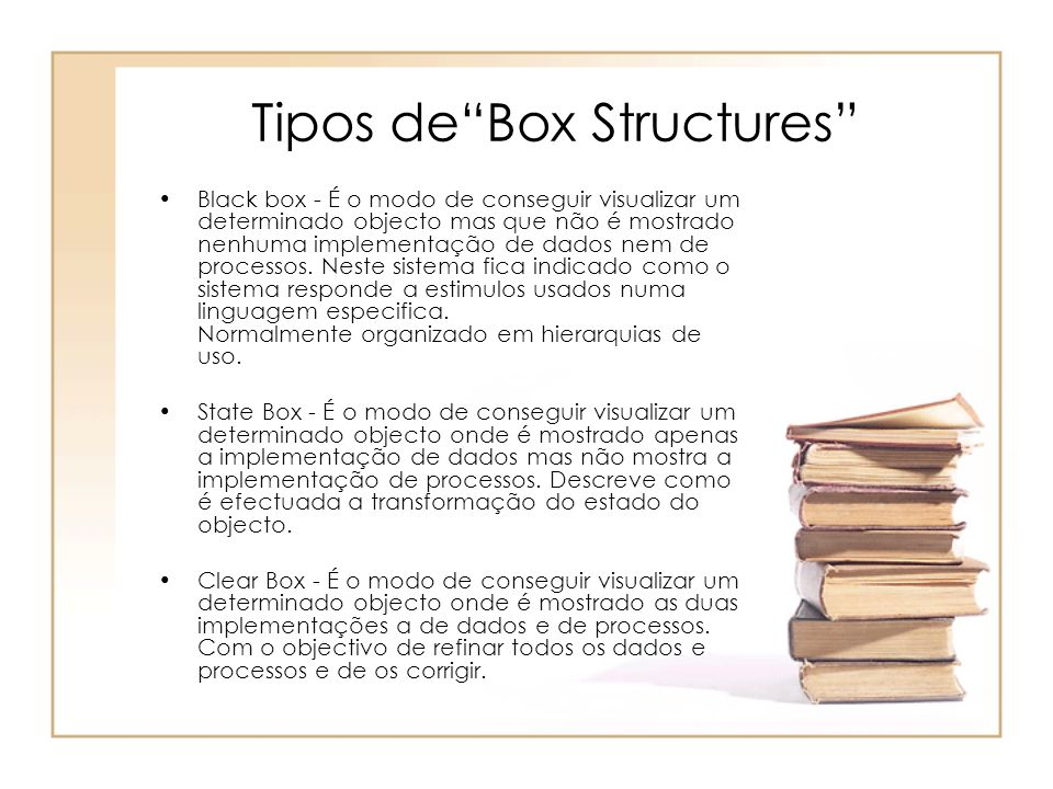 Tipos de Box Structures