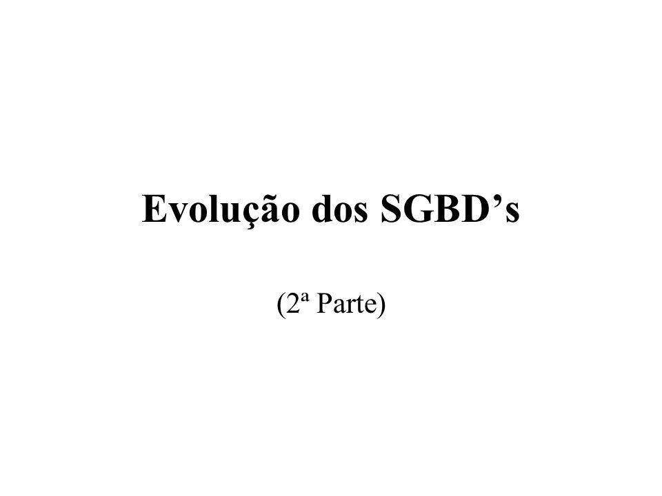 Evolução dos SGBD's (2ª Parte)
