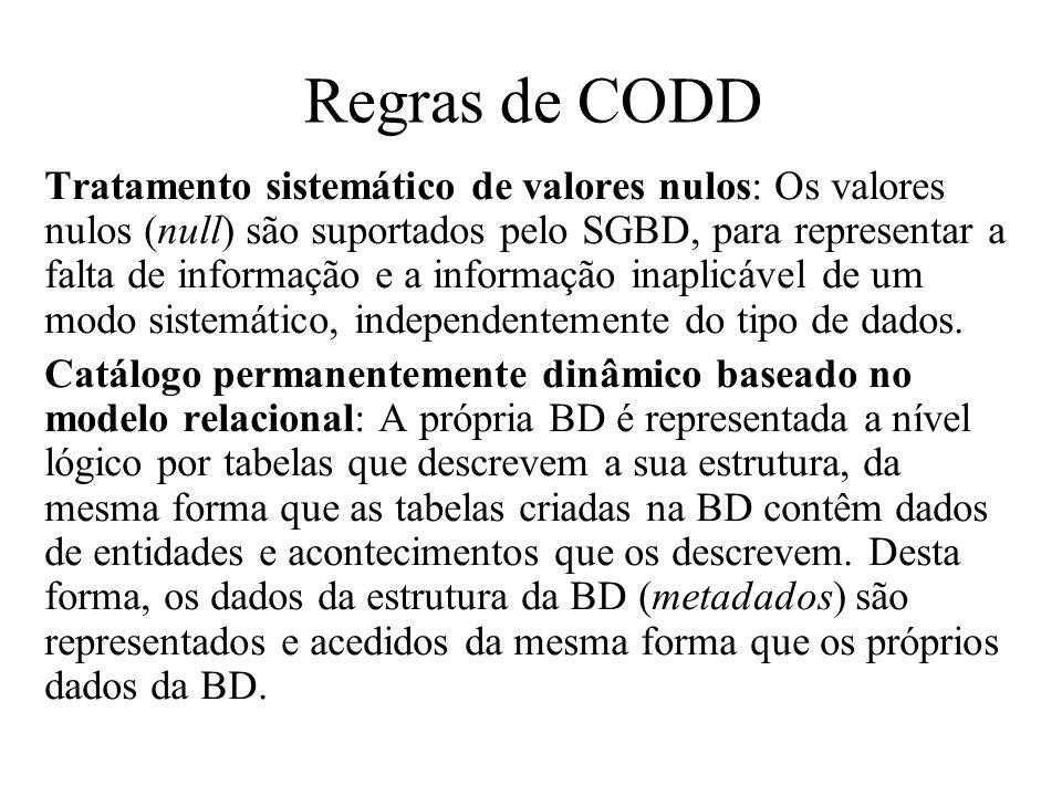 Regras de CODD