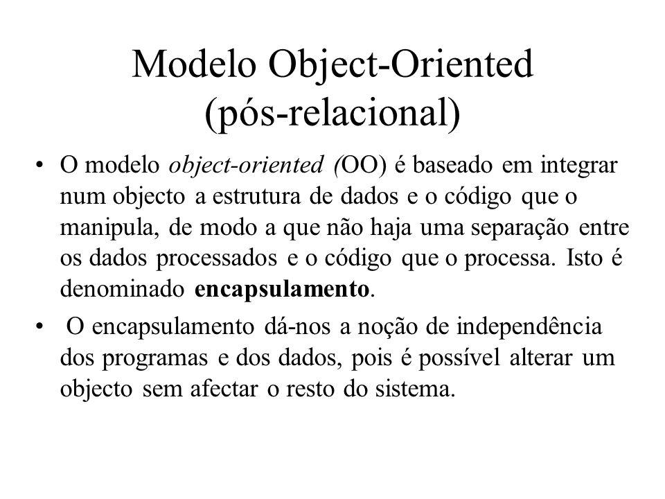 Modelo Object-Oriented (pós-relacional)
