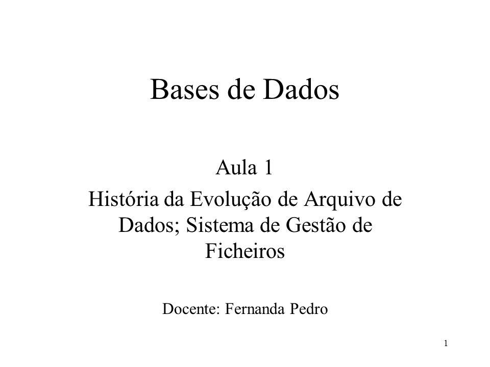Docente: Fernanda Pedro
