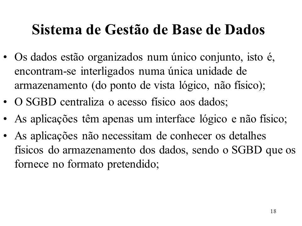 Sistema de Gestão de Base de Dados