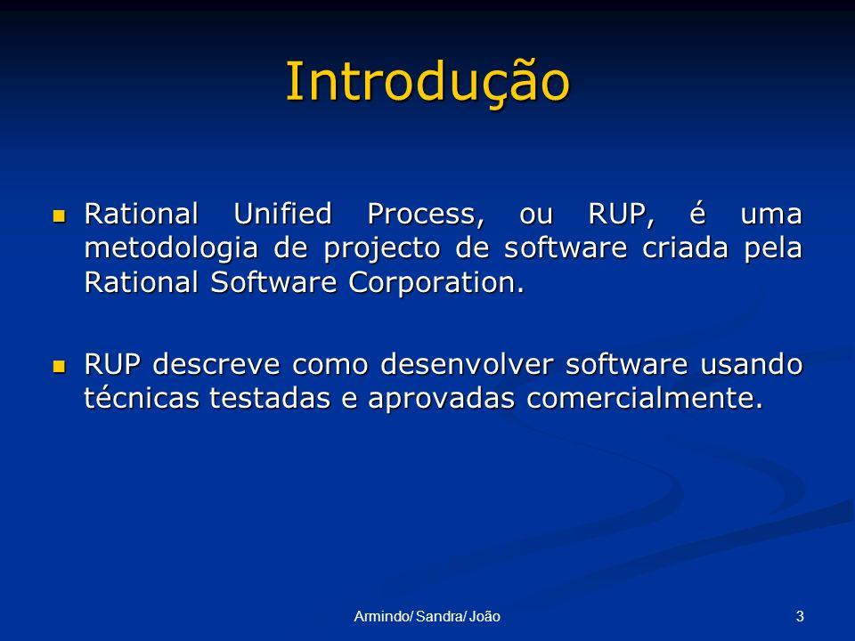 IntroduçãoRational Unified Process, ou RUP, é uma metodologia de projecto de software criada pela Rational Software Corporation.