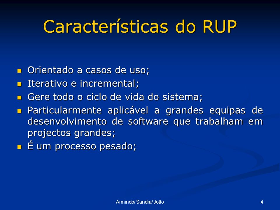 Características do RUP