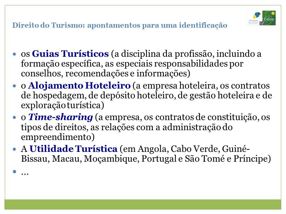 Direito do Turismo: apontamentos para uma identificação