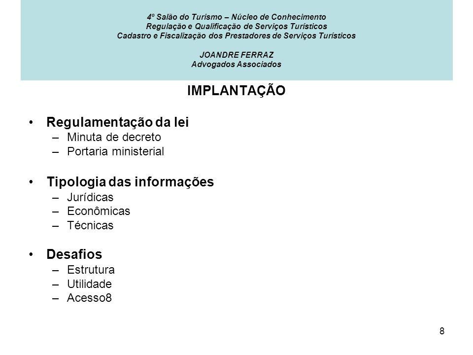 Tipologia das informações