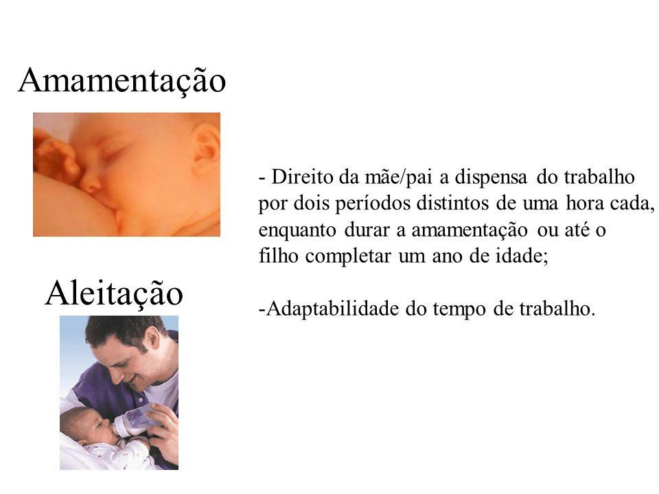 Amamentação Aleitação - Direito da mãe/pai a dispensa do trabalho