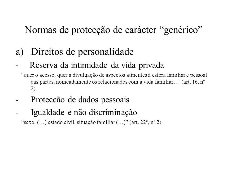 Normas de protecção de carácter genérico