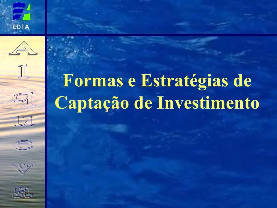 Formas e Estratégias de Captação de Investimento