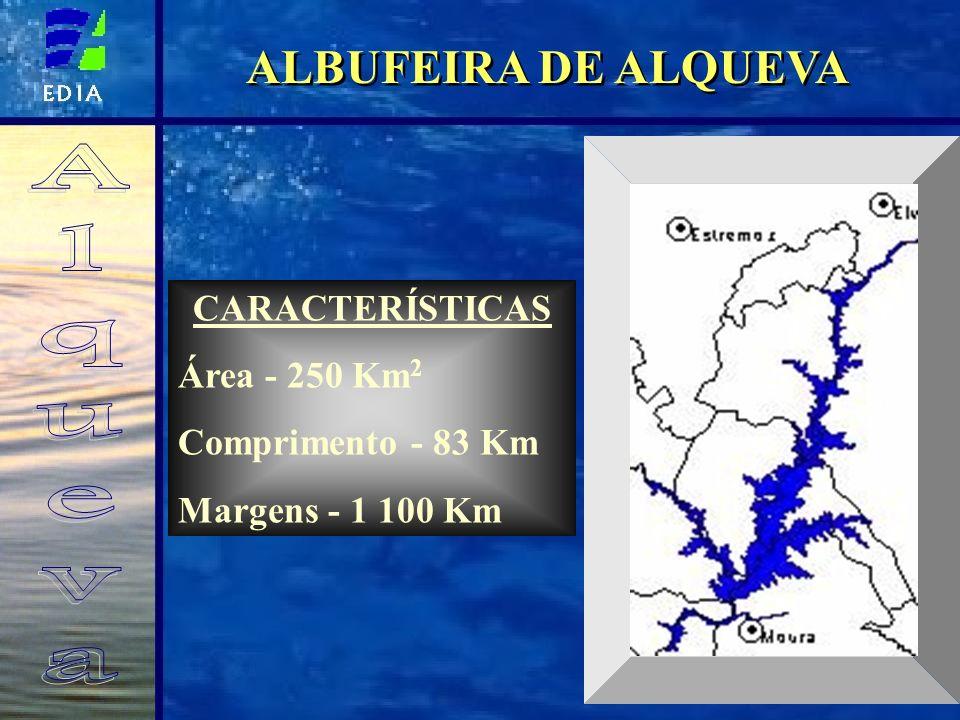 ALBUFEIRA DE ALQUEVA Alqueva CARACTERÍSTICAS Área - 250 Km2
