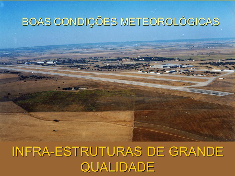 INFRA-ESTRUTURAS DE GRANDE QUALIDADE