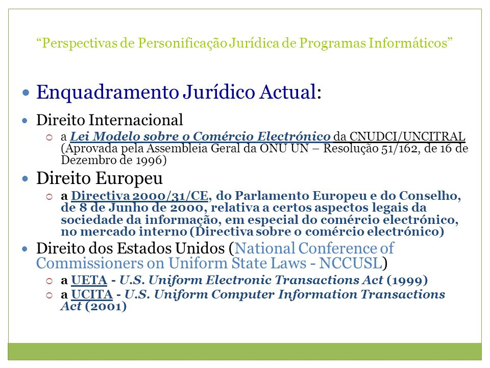 Perspectivas de Personificação Jurídica de Programas Informáticos