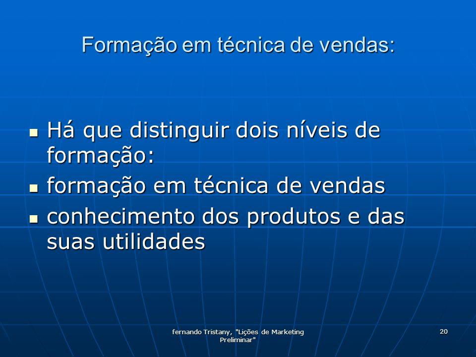 Formação em técnica de vendas: