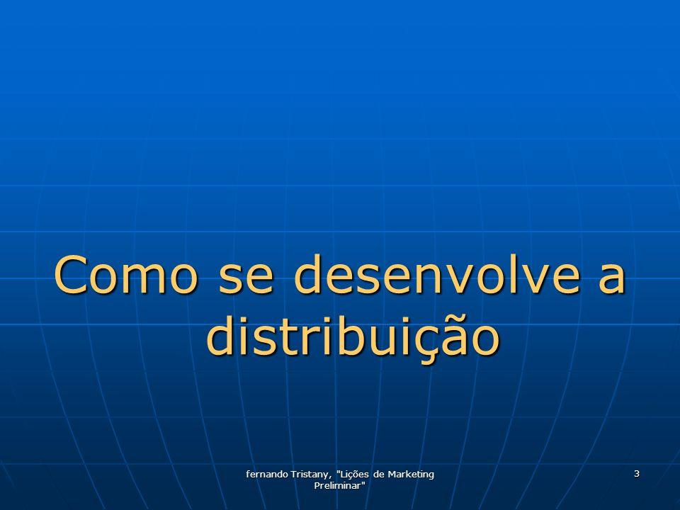 Como se desenvolve a distribuição
