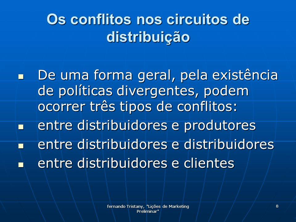 Os conflitos nos circuitos de distribuição