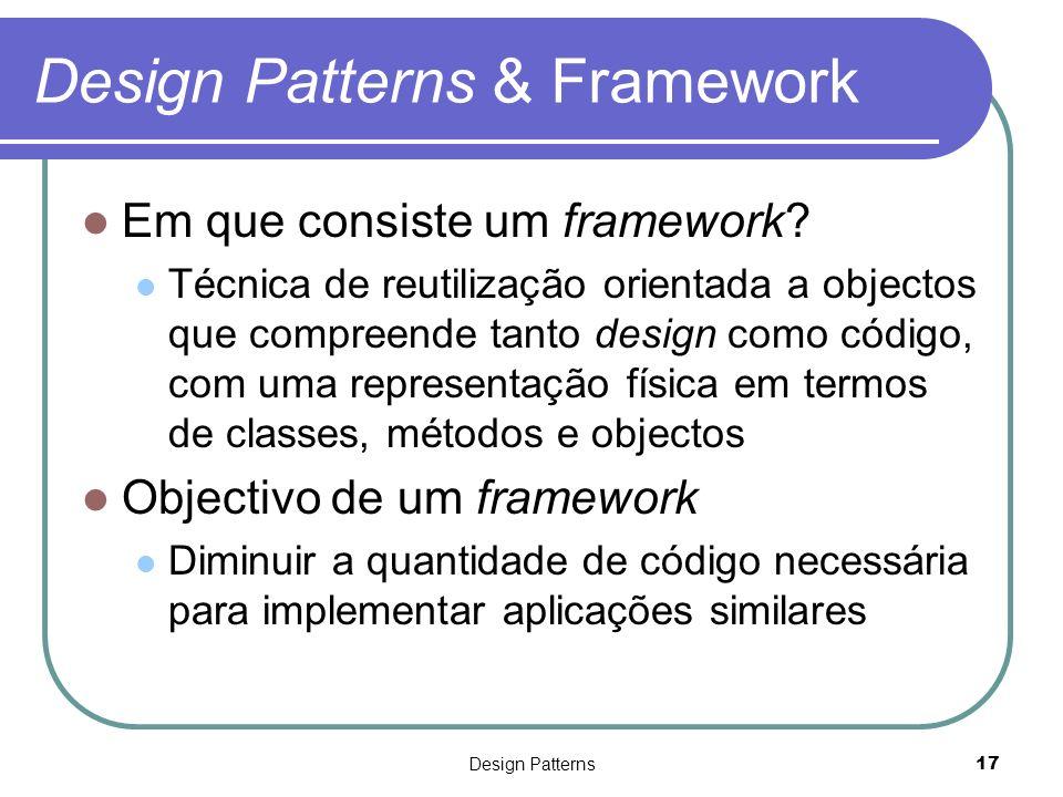 Design Patterns & Framework