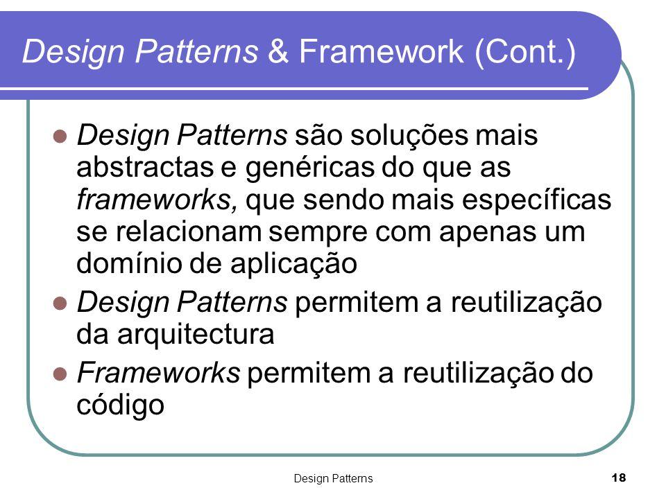 Design Patterns & Framework (Cont.)