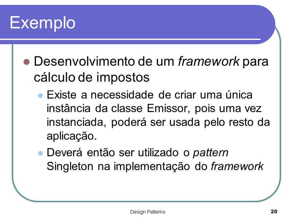 Exemplo Desenvolvimento de um framework para cálculo de impostos