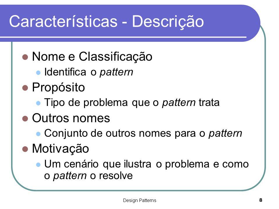 Características - Descrição