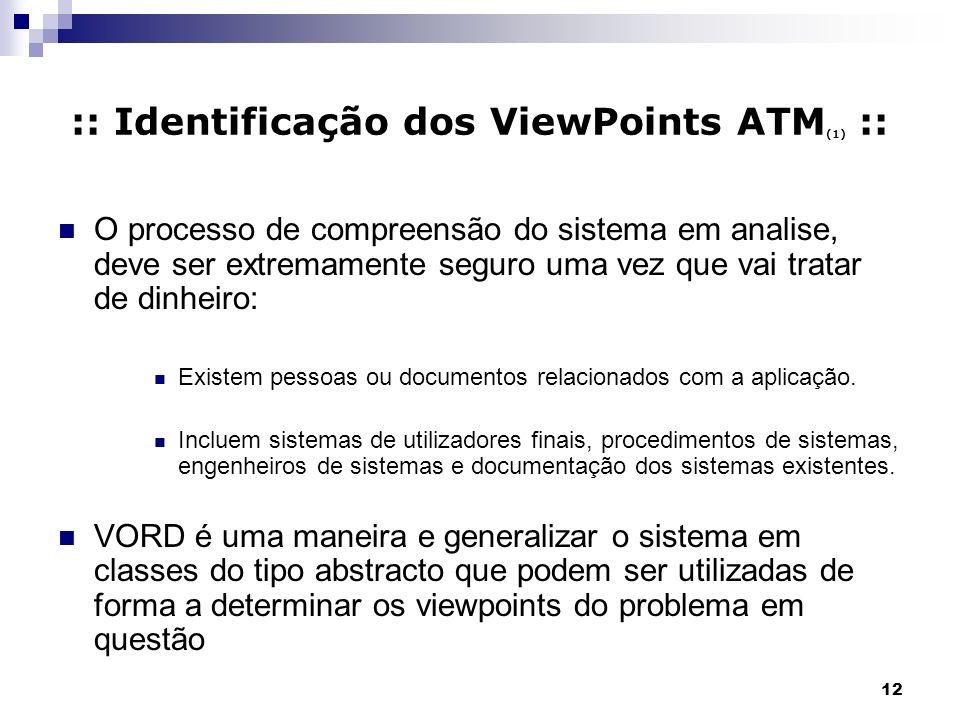 :: Identificação dos ViewPoints ATM(1) ::