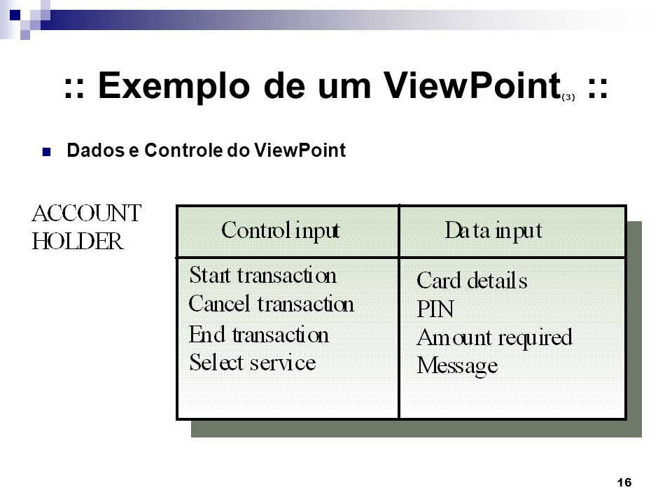 :: Exemplo de um ViewPoint(3) ::
