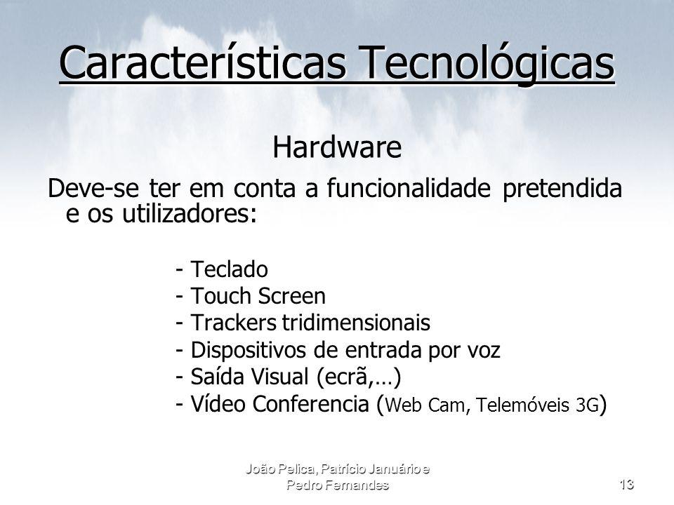 Características Tecnológicas Hardware
