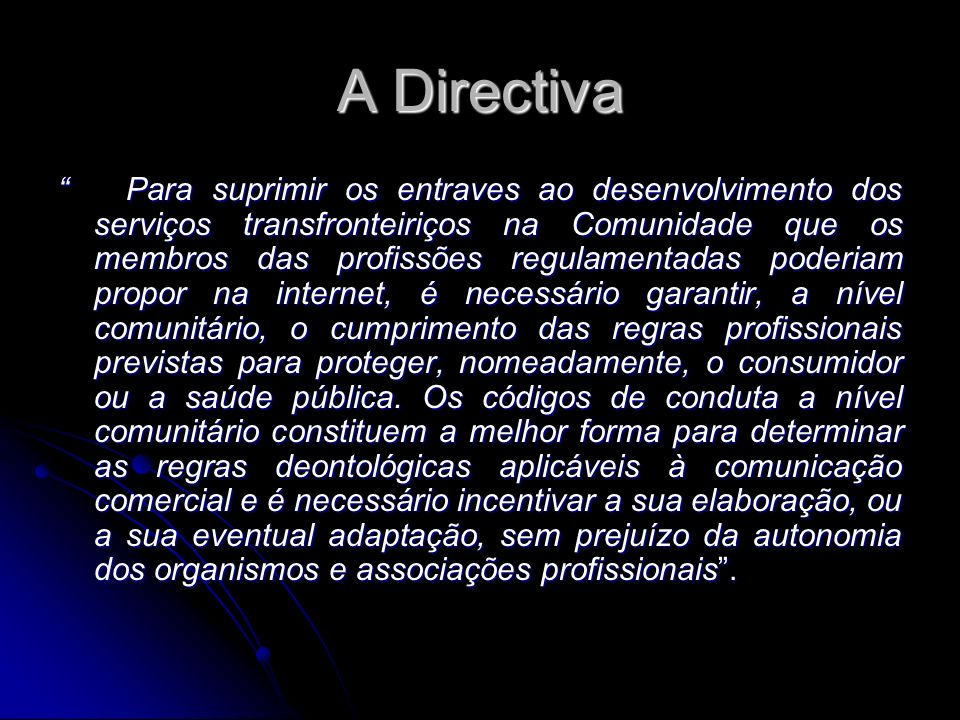 A Directiva