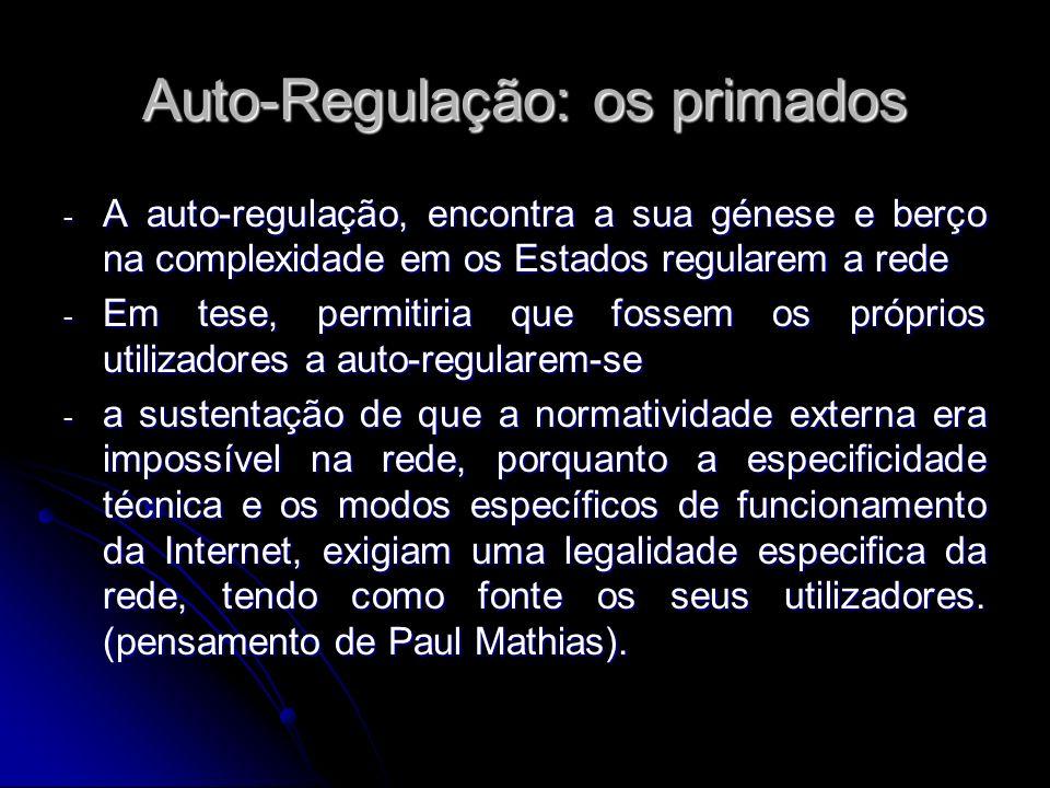 Auto-Regulação: os primados