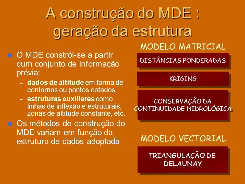 A construção do MDE : geração da estrutura