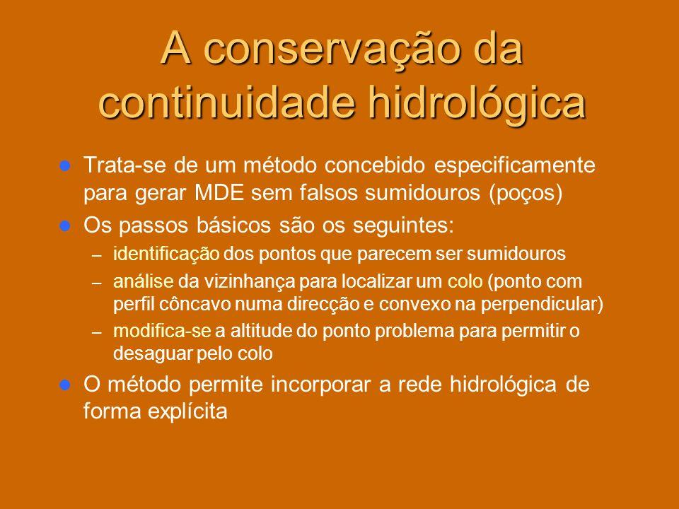 A conservação da continuidade hidrológica