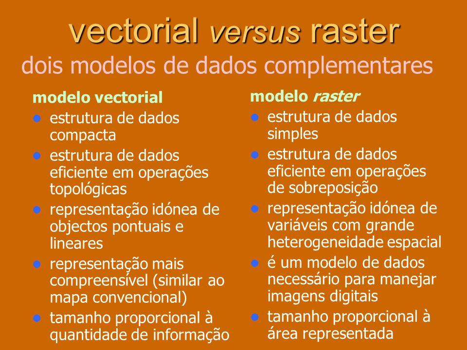 vectorial versus raster