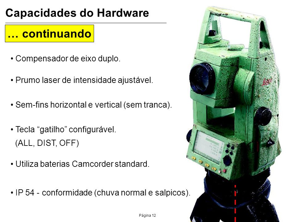 Capacidades do Hardware
