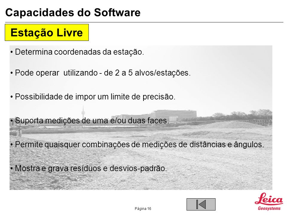 Capacidades do Software