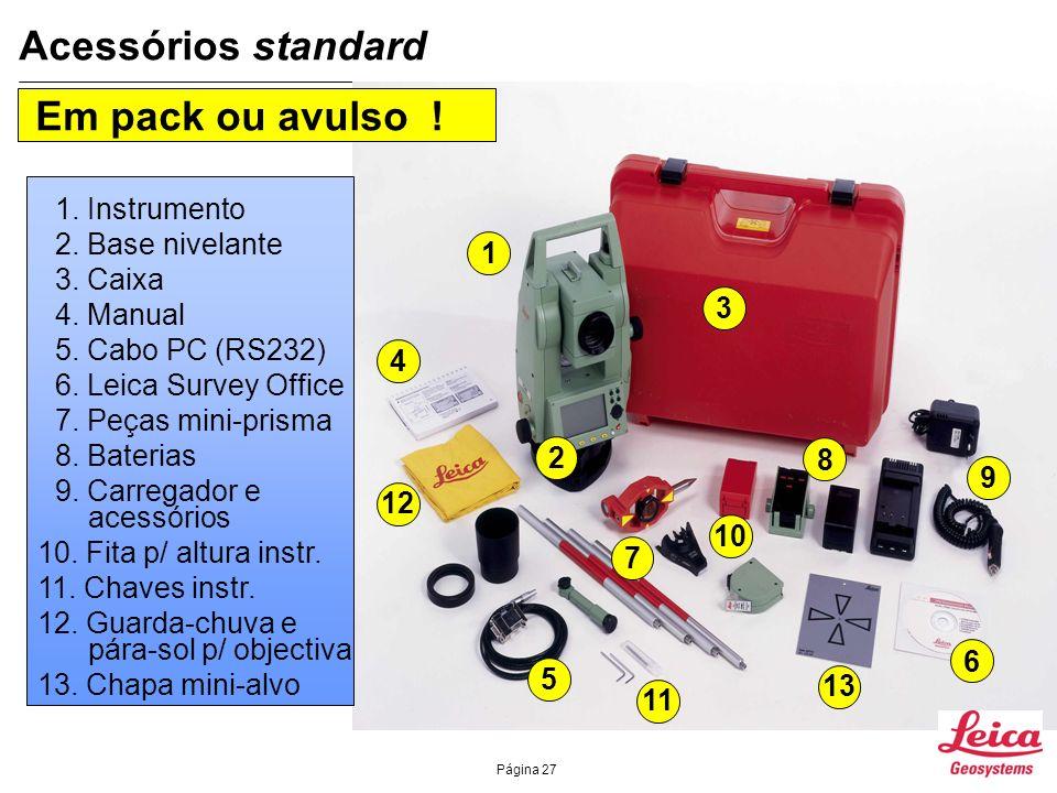 Acessórios standard Em pack ou avulso ! 1. Instrumento