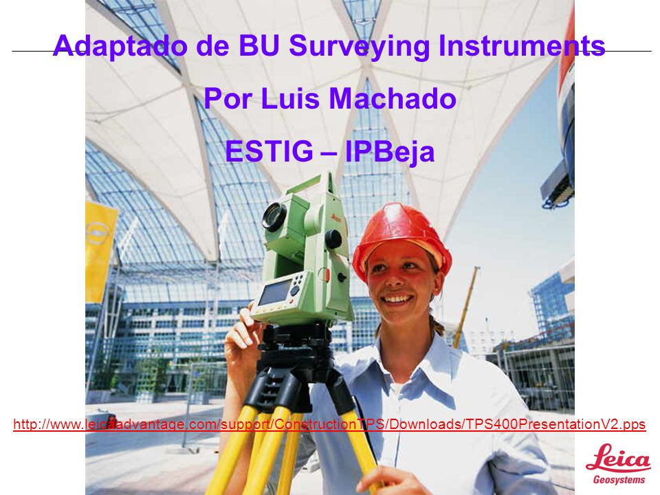 Adaptado de BU Surveying Instruments