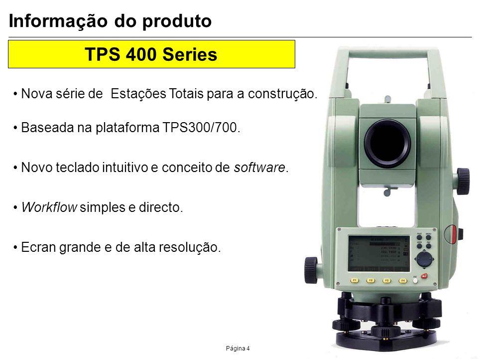 Informação do produto TPS 400 Series