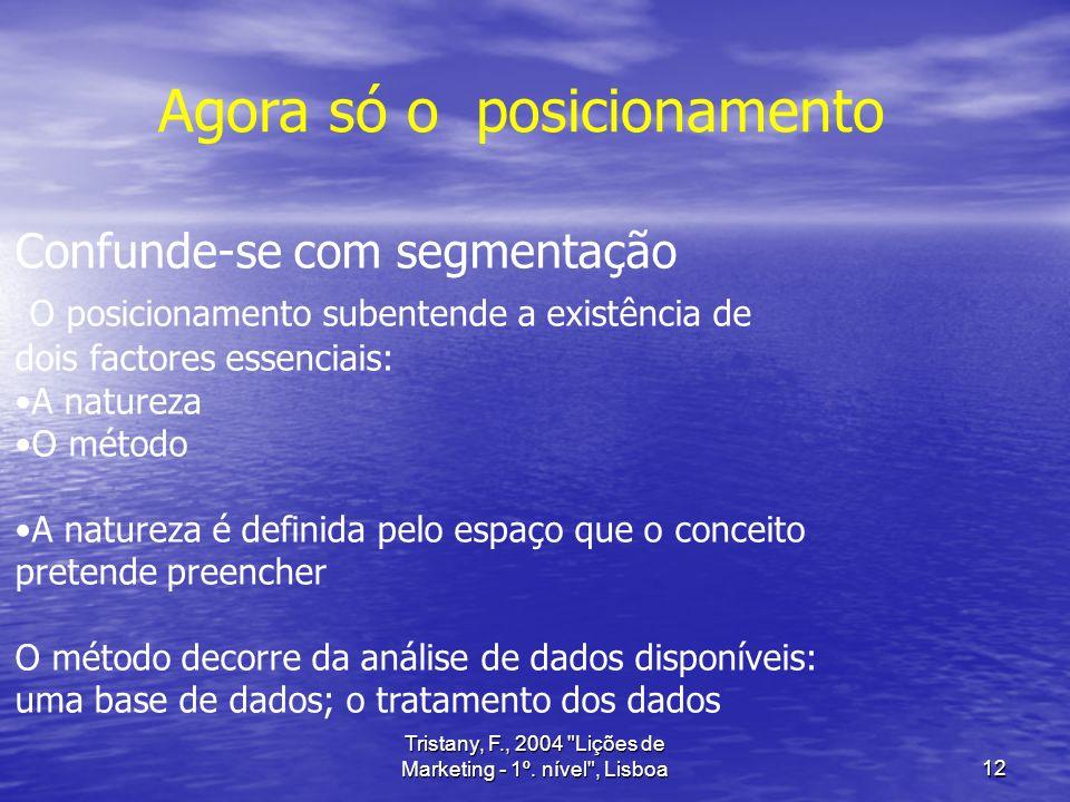 Tristany, F., 2004 Lições de Marketing - 1º. nível , Lisboa