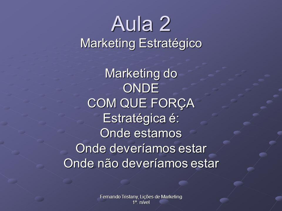 Aula 2 Marketing Estratégico Marketing do ONDE COM QUE FORÇA