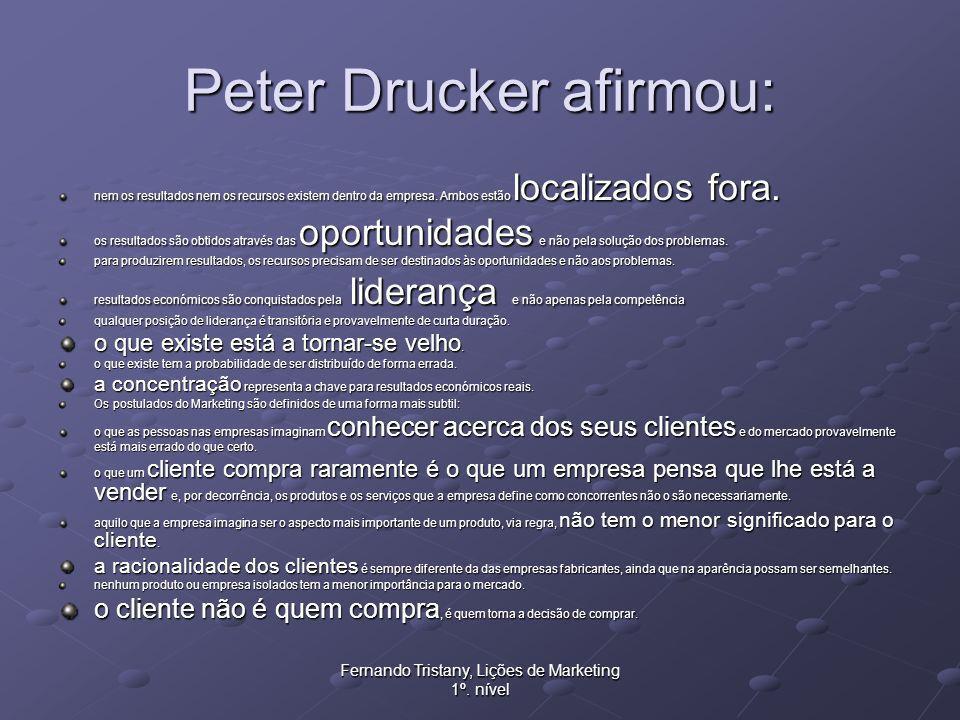 Peter Drucker afirmou: