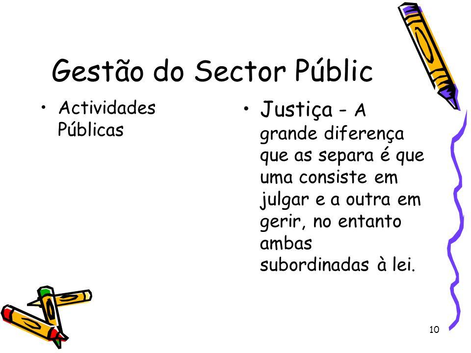 Gestão do Sector Públic