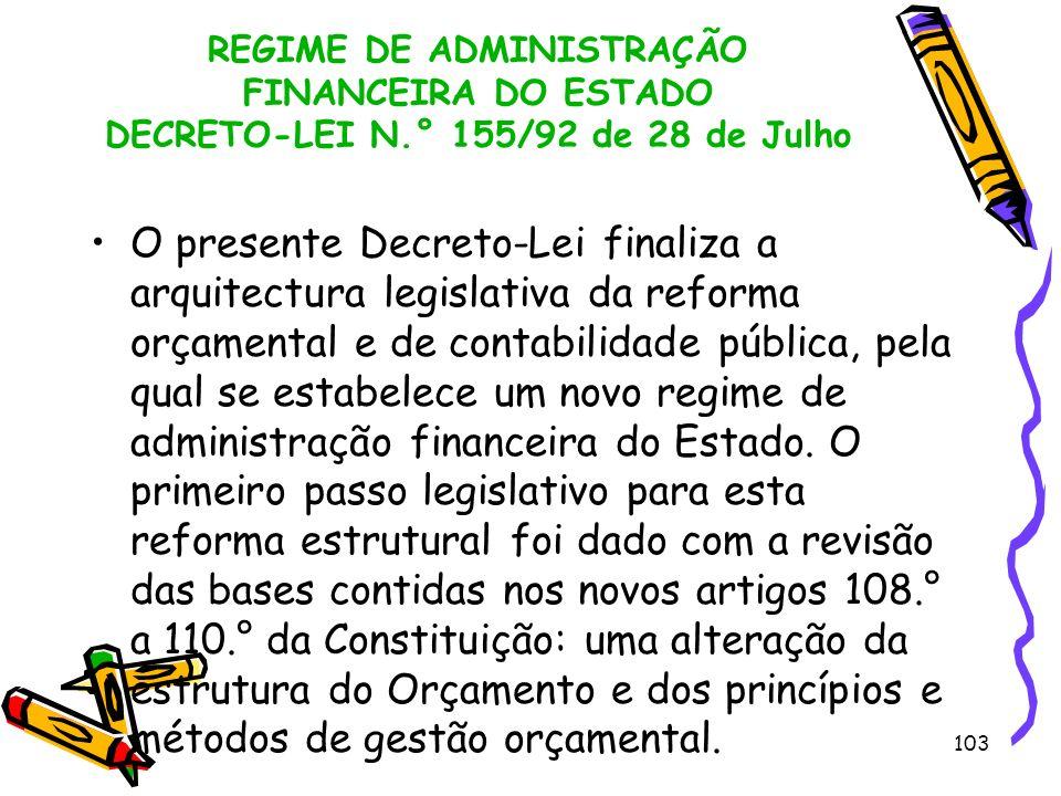 REGIME DE ADMINISTRAÇÃO FINANCEIRA DO ESTADO DECRETO-LEI N