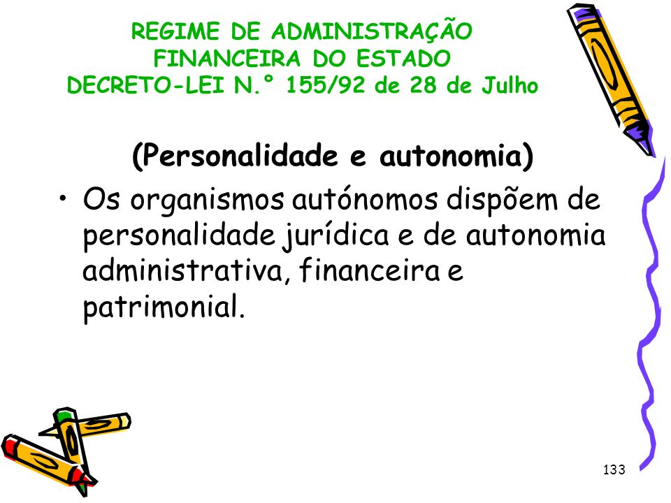 (Personalidade e autonomia)