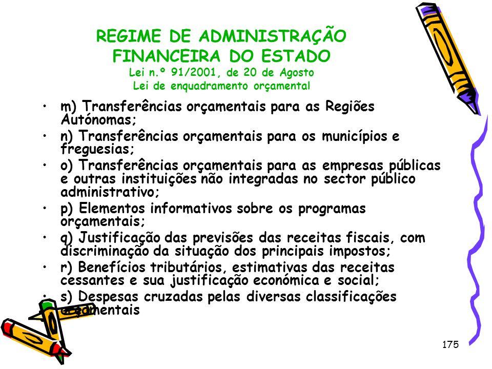 REGIME DE ADMINISTRAÇÃO FINANCEIRA DO ESTADO Lei n