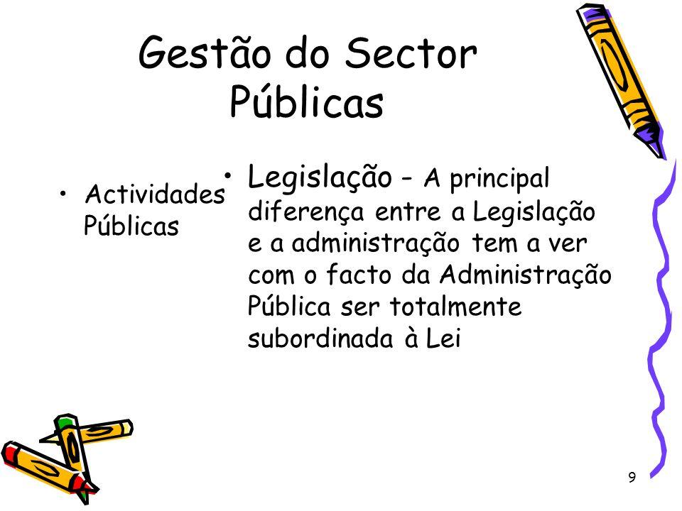 Gestão do Sector Públicas