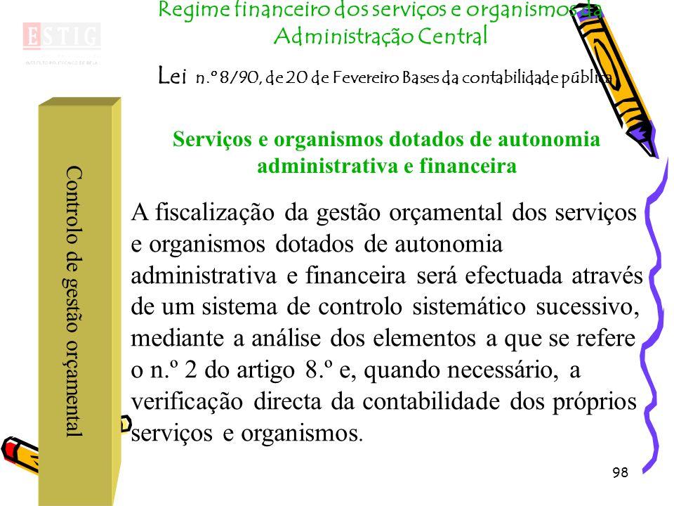 Serviços e organismos dotados de autonomia