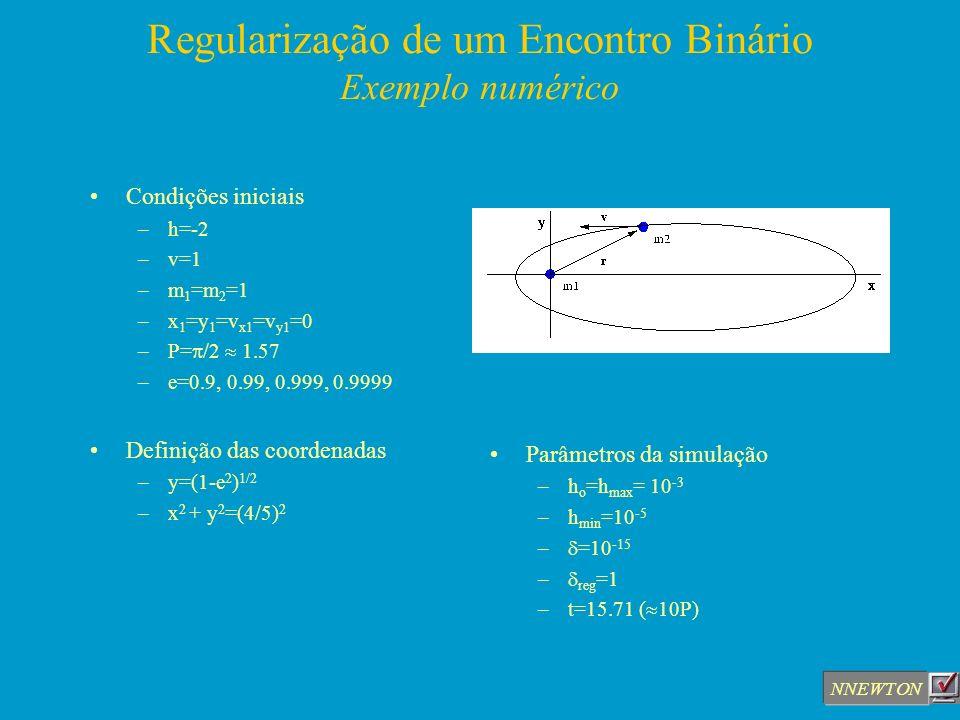 Regularização de um Encontro Binário Exemplo numérico