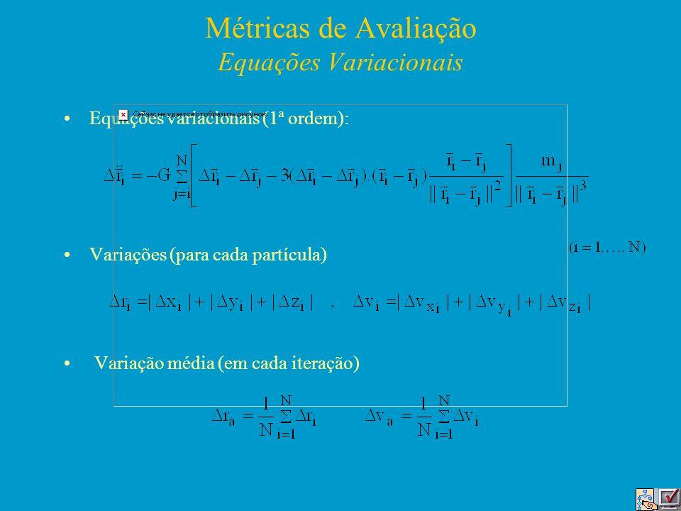 Métricas de Avaliação Equações Variacionais