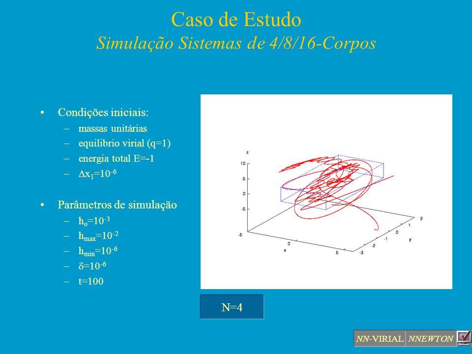 Caso de Estudo Simulação Sistemas de 4/8/16-Corpos